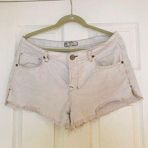 Free People Shorts - Free People Shorts Rugged Ripped In Polar White